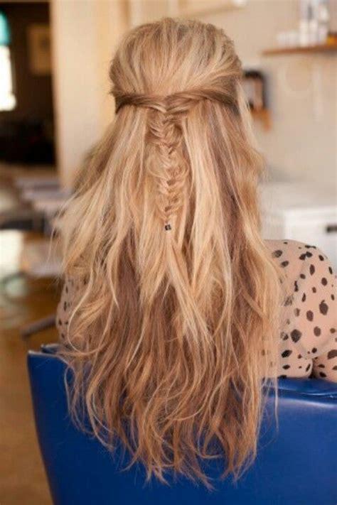 halfway braid hairdos hair styles hairstyles fishtail braids