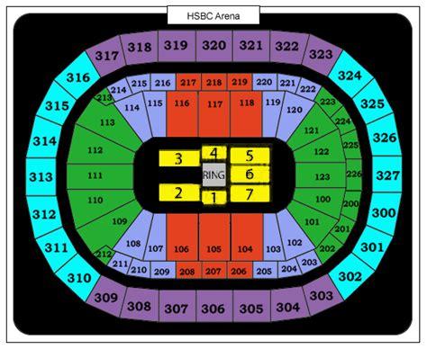 niagara center seating niagara center seating chart