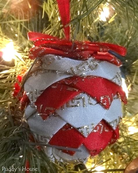 diy christmas ornaments fabric pinecone puddy s house