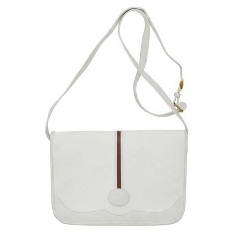 Gucci Emboss Sling Bag Medium Semi Premium 1970 s gucci white messenger bag for sale at 1stdibs