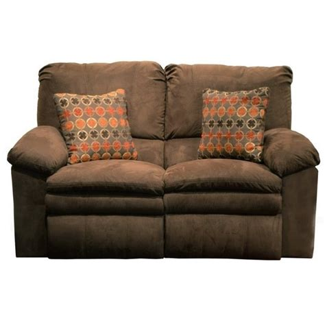 Fabric Reclining Sofas And Loveseats Catnapper Impulse Power Reclining Fabric Loveseat In Godiva 61242213319243319
