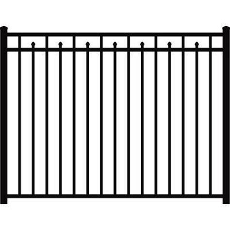 Picket Fence Sections Home Depot by Aluminum 3 Rail Panel Fence From Home Depot Fencing