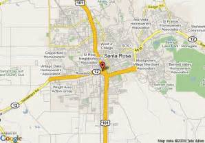 where is santa rosa california on the map of california map of santa rosa california california map