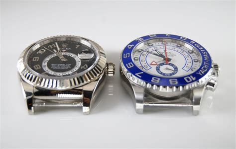 Rolex Dweller Gold white gold rolex sky dweller vs stainless steel yacht