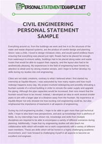personal statement format engineering