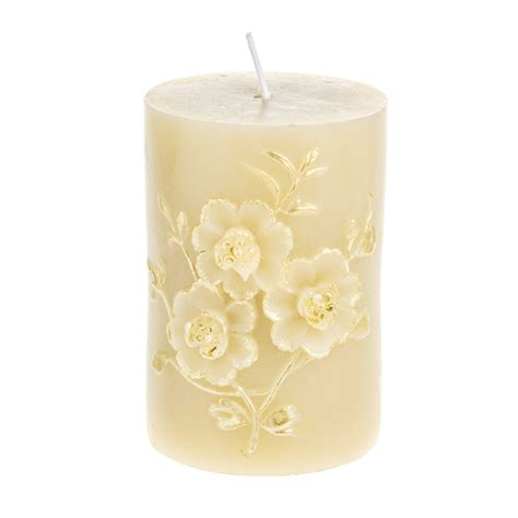 gold and cream pillar candles cb imports e commerce candles