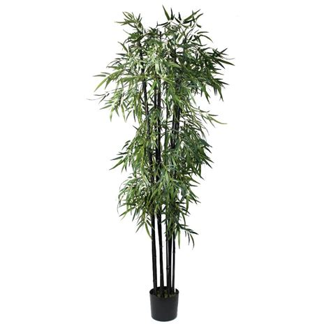 artificial bamboo tree black stems 7ft indoor artificial