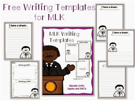 mlk writing paper mlk writing paper freebie apples and abc s