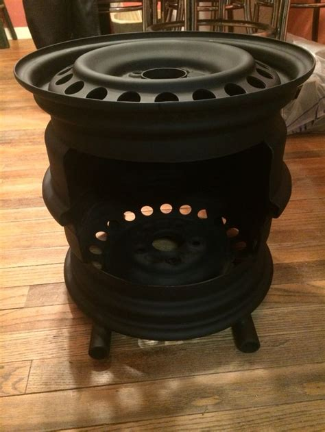 Firepit On Wheels My Version Of The Steel Wheel Pit Welding Pits Wheels And