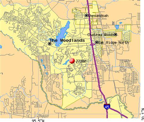 zip code map woodlands tx 77380 zip code the woodlands texas profile homes
