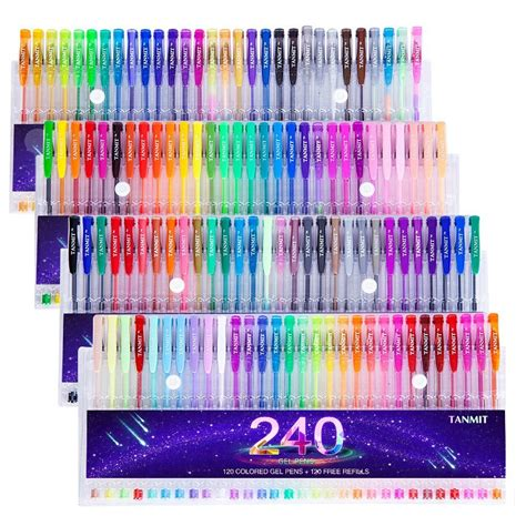 color pen set gel pens for coloring books smooth coloring for