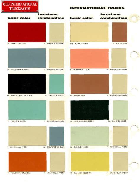 color chart colour charts international truck parts
