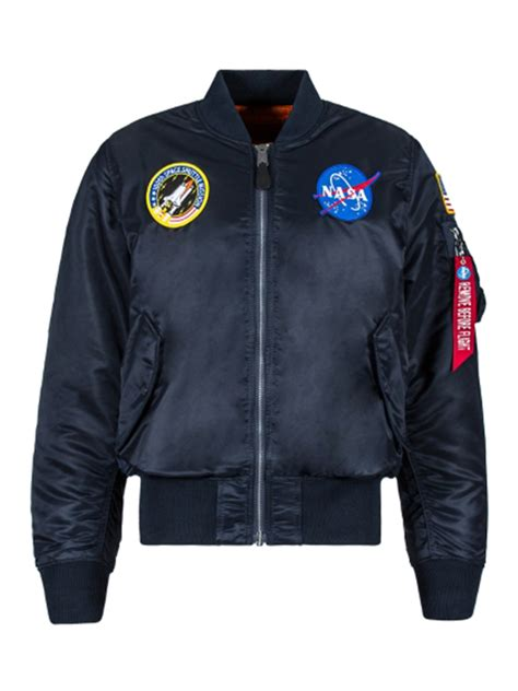 Nasa Bomber Navy alpha industries ma 1 nasa bomber navy broadway fashion