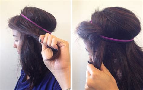 quick easy princess roll with hairband how to the princess roll hairstyle birchbox