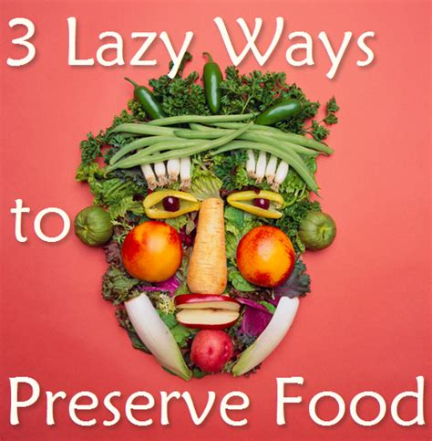 lazy budget chef preserving fresh vegetables the lazy way