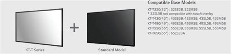 Lg Touch Overlay Kt T430 1 lg 32 class overlay touch kt t series lg us