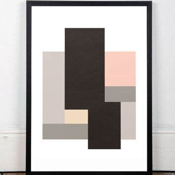 modern minimalist artist abstract print geometric print gift from les temps