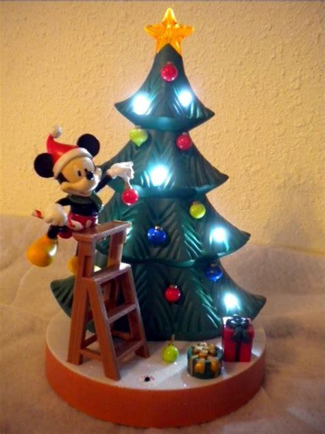 disney animated mickey decorating christmas tree display
