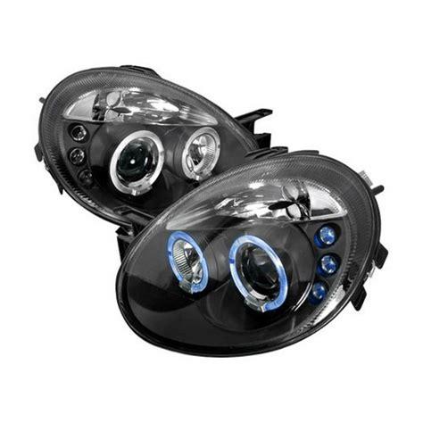 2005 dodge neon headlights 03 05 dodge neon black dual halo projector