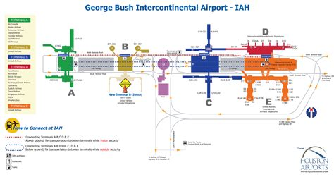 map of george bush intercontinental airport houston texas iah houston airport map indiana map
