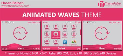 Animated Themes For Nokia Asha 210 | animated waves theme for nokia c3 00 x2 01 asha 200 201