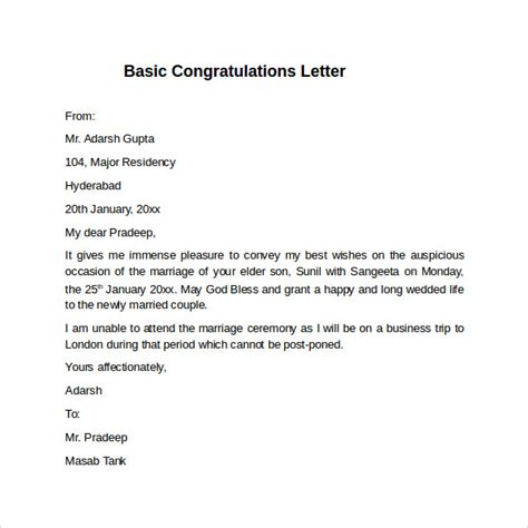 Congratulations Letter Pin Congratulation Letter On