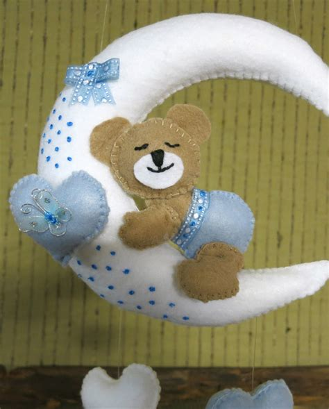 Teddy Crib Mobile by Baby Nursery Mobiles Teddy Crib Moon Flower Mobile