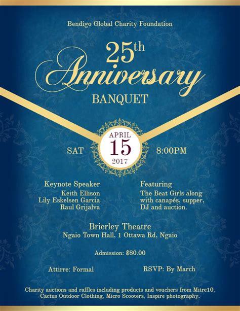 invitation flyer anniversary formal banquet dinner invitation flyer
