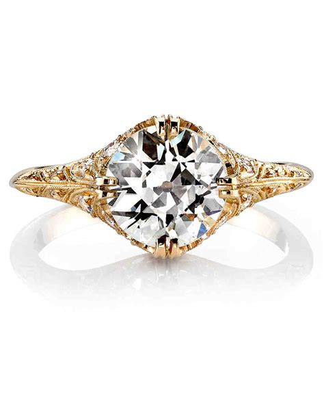 Gold And Engagement Rings by Yellow Gold Engagement Rings Martha Stewart Weddings