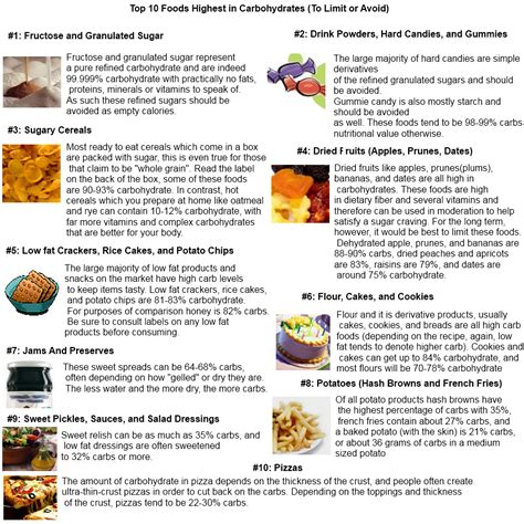 carbohydrates what foods carbohydrates foods top 10 foods highest in