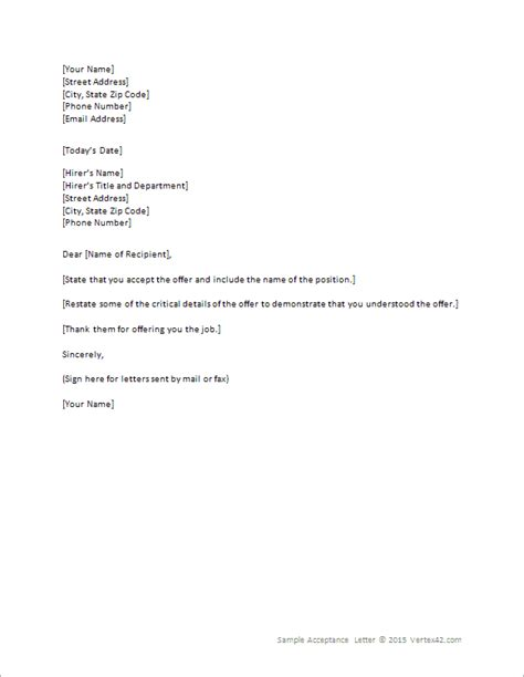 offer letter acceptance email reply new 9 how to accept a job offer