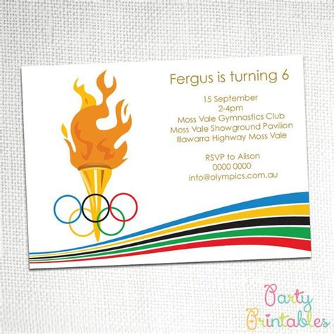 olympic invitation template olympic invitation