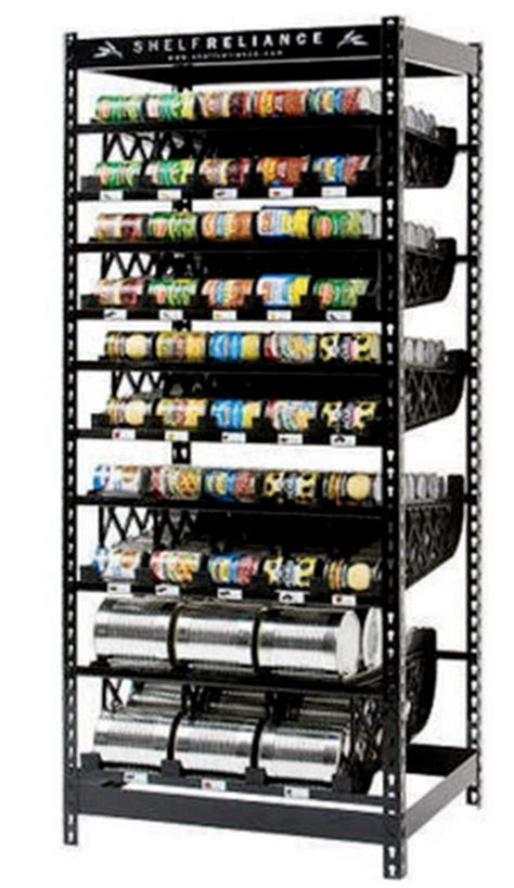 Can Food Storage Rack by New 72 Quot 300 Can Storage Rack Food Rotation System Steel Shelving Shelf Ebay