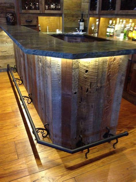 bar top lighting best 25 reclaimed wood bars ideas on pinterest wood