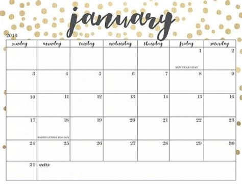 Jan 2018 Calendar January 2018 Calendar Printable Template With Holidays Pdf