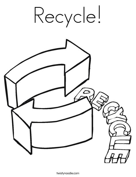 pin recycle symbol coloring page on pinterest