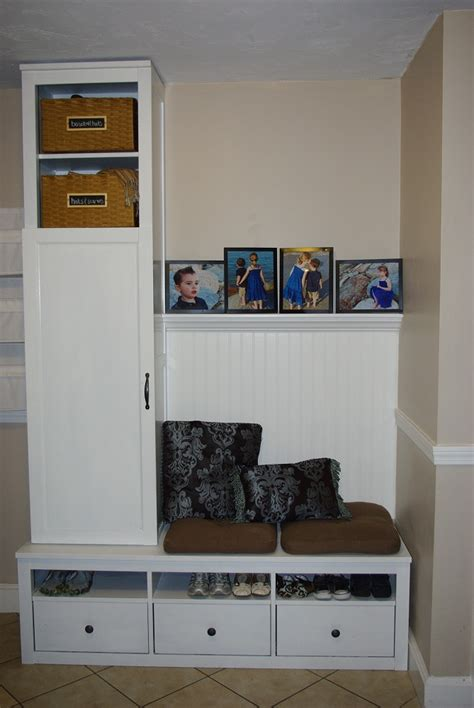 ikea hack mudroom cheap diy mudroom ikea hack entirely smitten