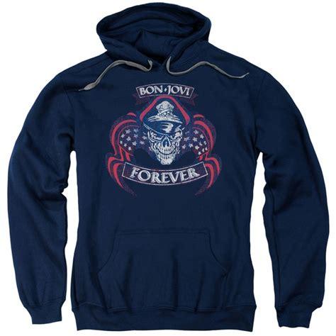 Jaket Sweater Hoodie Zipper Bonjovi bon jovi hoodie forever skull navy blue sweatshirt hoody bon jovi forever skull shirts