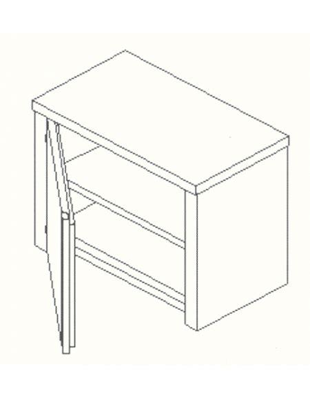 armadietto pensile armadietto pensile inox anta a battente cm 130x40x60h