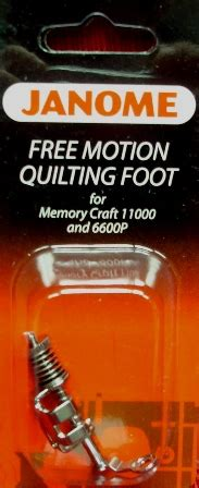 janome free motion quilting foot with small stippling