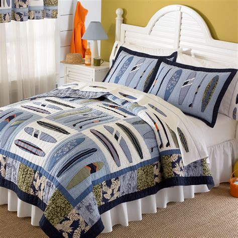 Quilts With Shams Catch A Wave Quilt With Pillow Sham Rosenberryrooms