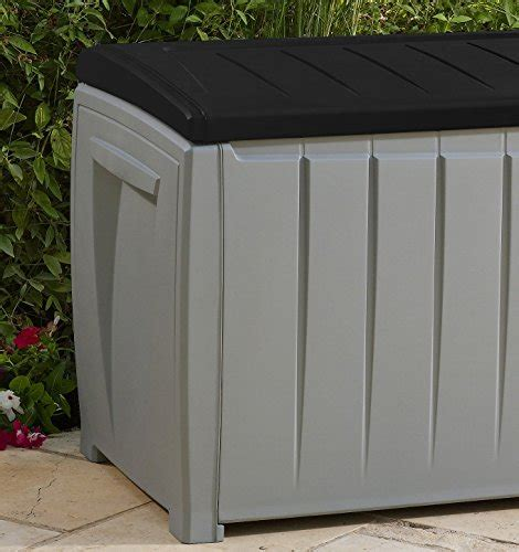 patio storage container keter novel plastic deck storage container box outdoor