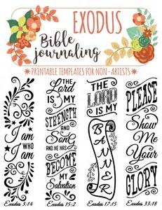 scripture journal templates exodus 4 bible journaling printable templates