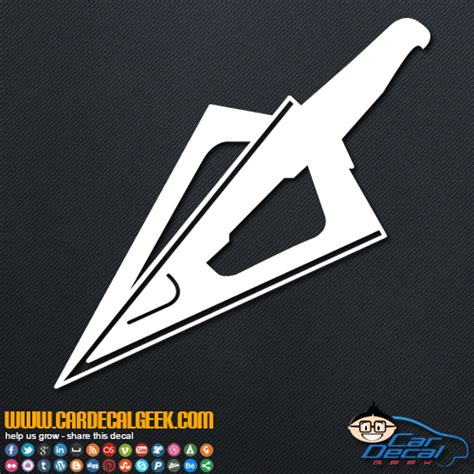 bow window decals bowhunting arrow tip car truck decal decals