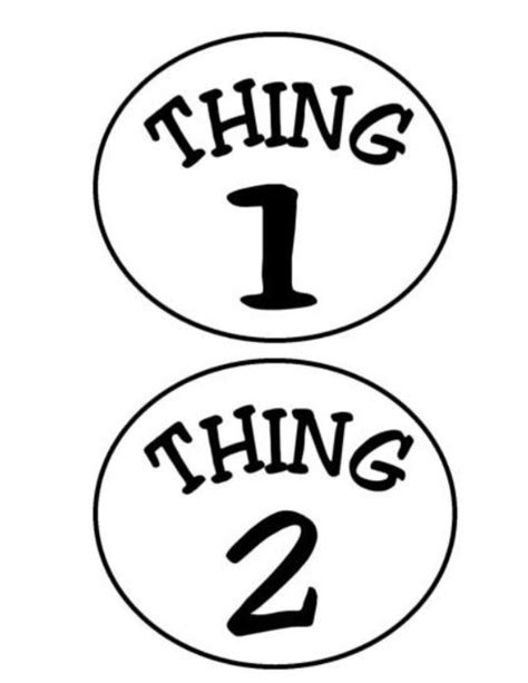 thing 1 and thing 2 templates dr seuss read across