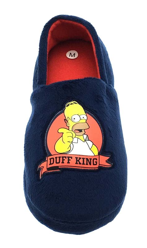 boys simpsons slippers mens simpsons slippers novelty plush duff homer mules