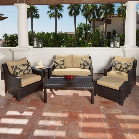 rst brands deco 6 patio seating set with delano