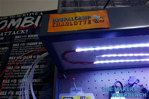 under bench led lighting rgb led under shelf bench lighting the makers workbench