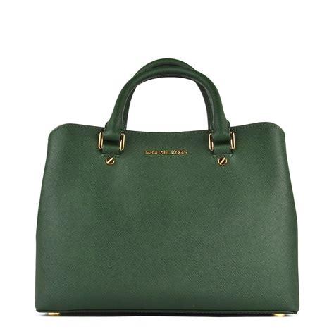 michael michael kors moss green medium satchel