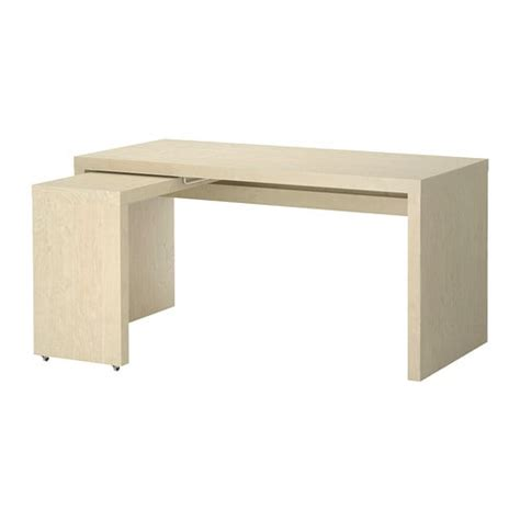 Pull Out Desks by Malm Desk With Pull Out Panel Birch Veneer Ikea
